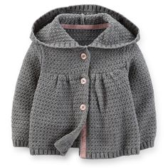 Sweater Knit Hooded Cardigan   Carter's