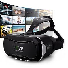 3D VR Headset, Yove 3D Virtual Reality Headset with Adjustable Lens and Strap for iPhone 7 6 6s 5 5s 6splus Samsung S3 Edge Note 4 and 3.5-5.5 inch Smartphone for 3D adult Movies and 3D Games ** Continue to the product at the image link.