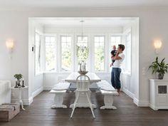 white, wood, great windows