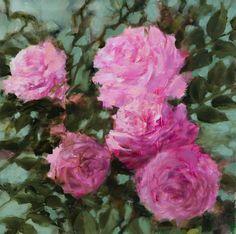 Buy Pink roses, Peinture à l'huile by Fabienne Monestier on Artfinder. Discover…