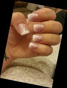 Very pretty twist on the French Nail