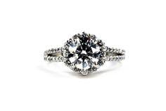 Unique Halo Diamond Engagement Ring