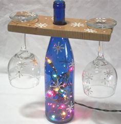 Hand Painted Snowflake Set. Matching Lite by CreativePaintedBella, $43.95