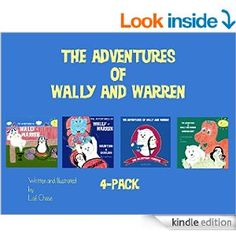 Wally and Warren are excited to share all 4 of their books for 7.99 on Amazon Kindle store!! These books are fun stories while teaching your children ABC's, counting, sharing, trying new things, and all about DINOSAURS!  Wally and Warren love to share their stories!!