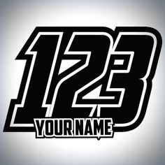 3 x Custom Race Numbers And Name Stickers Motocross Kart Decals MX Dirt Bike Motocross Stickers, Motocross Logo, Dirt Bike Tattoo, Bike Tattoos, Dirt Bike Shirts, Number Plate Design, Font Art, Number Stickers, Abstract Logo
