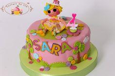 Cake with Lalaloopsy for Sara Girly Birthday Cakes, Character Cakes, Lalaloopsy, Girl Cakes, Kids, Children, Desserts, Celebration Cakes, Food Ideas
