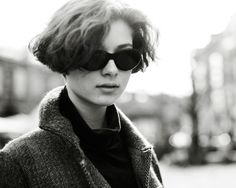On the Street…..Mitte, Berlin « The Sartorialist_ great  hair.. and i am also liking the shape of her shades
