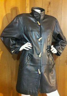 Leather coat VTG Jacqueline Ferrar Petite Small-see Perfect Fit Measurements  #JacquelineFerrar