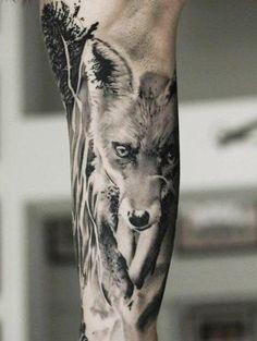 Fox tattoo by Neon Judas Body Art Tattoos, Small Tattoos, Tattoos For Guys, Tattoo Ink, Fox Tattoo Men, Fox Tattoos, Tattos, Zorro Tattoo, Fennec
