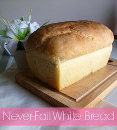 Learn how to make white bread at home with this simple never-fail homemade bread recipe