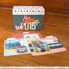 Recipe Box Mini Album by Kathy Skou