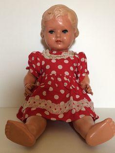 Puppe Schildkröt Nr. 49, Schlafaugen, mit Kleidchen, 49 cm, Schildkröt, Rarität | eBay