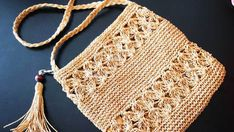 Paper Rope Bag With Flower Ribbon – Bag İdeas Crochet Baby, Crochet Bikini, Crochet Top, Bridal Hairstyles With Braids, Wedding Hairstyles, Striped Bags, Garden Wedding Inspiration, Macrame Projects, Macrame Patterns