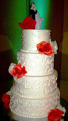 Buttercream Swirl and Words Wedding Cake | Flickr - Photo Sharing!
