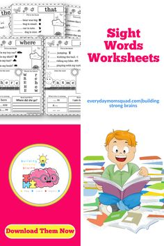 These free sight word worksheets will help you child learn and practice their sight words. They can also make it into a coloring page for fun. Gross Motor Activities, Sensory Activities, Infant Activities, Educational Activities For Kids, Learning Toys, Sight Word Worksheets, Free Kindergarten Worksheets, Kids Behavior, Play Ideas