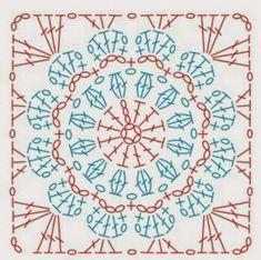 Картинки по запросу квадратные мотивы крючком крупным планом