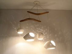 CLAYLIGHT BOOMERANG LARGE - Four Pendant Chandelier light - On Sale 10% off