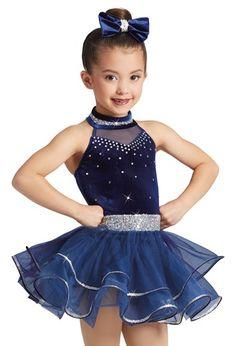 NWT Hologram Crepe Ruffled Tap shorts Dance Royal Blue Girls sizes