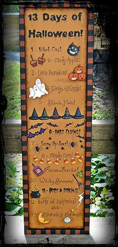 13 Days of Halloween e-Pattern DOWNLOAD