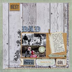 Scrapbook page lay out by HandKrafted by Stephanie