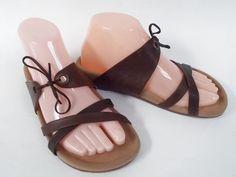 Tatami Womens Sandal Slides Leather Sole 37 Birkenstock Brown #Birkenstock #Slides