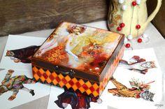 Декупаж - Сайт любителей декупажа - DCPG.RU | Мои заметки по работе с витражными красками Click on photo to see more! Нажмите на фото чтобы увидеть больше! decoupage art craft handmade home decor DIY do it yourself box