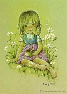mary may - Sarah Kay, Mary May, Sweet Drawings, Holly Hobbie, Old Postcards, Vintage Girls, Cute Illustration, Art Forms, Paper Dolls