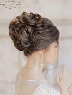 Glamorous Wedding Hairstyles with Elegance wedding hairstyles photo 2019 wedding hairstyle idea; photo: Liliya Fadeeva via Websalon Wedding wedding hairstyles photo 2019 2015 Hairstyles, Elegant Hairstyles, Bride Hairstyles, Bridesmaid Hairstyles, Shag Hairstyles, Beautiful Hairstyles, Bridesmaid Dresses, Wedding Dresses, Mod Wedding