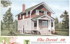 "Aladdin Kit Home, ""The Dorval,"" 1920"