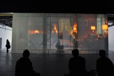 """Vue du vernissage de Philippe Parreno, """"Anywhere, Anywhere, Out Of The World"""", lundi 21 octobre. © Photo : Didier Plowy"""