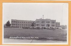 Real-Photo-Postcard-RPPC-State-Hospital-at-Wahjamega-Caro-Michigan-Epilepsy