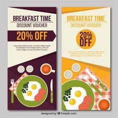 Breakfast discount banners #Free #Vector #Banner #Food #Menu #Restaurant #Kitchen #Banners #Chef #Coupon #Discount #Cook #Cooking #Breakfast #Egg #Dinner #Eat #Diet #Nutrition #Eating #Dish #Menurestaurant