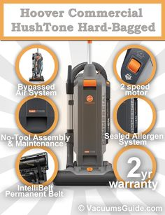 Hoover HushTone Hard-Bagged - commercial vacuums reinvented