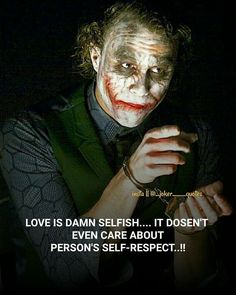 Agree or Not 😊😊 Dark Quotes, Crazy Quotes, True Quotes, Joker Qoutes, Best Joker Quotes, Heath Ledger Joker Quotes, Heartless Quotes, Good Attitude Quotes, Hustle Quotes