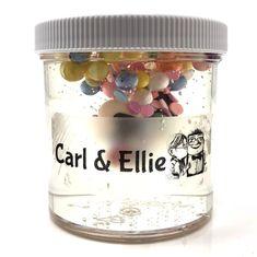 Carl & Ellie Clear Slime – snoopslimes