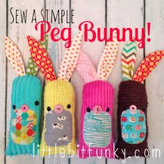 20 minute crafter {how to sew a simple (peg) bunny}! Free Bunny Pattern and Tutorial!