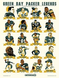 Tons of Packer legends on one single poster.