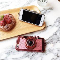 3D Bling bling Kamera mit dem Spiegel Handyhülle für Appel 6/6s/6plus