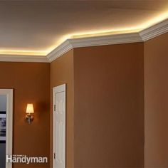 Bored with your living space? Cove lighting can add an understated elegance and breathe life into the most uninspiring room. We'll show you how we built ours using LED strip lighting and demonstrate how to wire it up. We'll also give you the lowdown on th Living Room Lighting, Bedroom Lighting, Interior Lighting, Lighting Design, Lighting Ideas, Modern Lighting, Living Room Designs, Living Spaces, Living Rooms