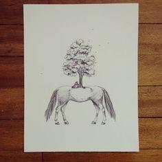""" Experimento genético contra natural al revés "" rapidógrafo sobre durex #Himallineishon #illustration #drawing #ink #staedler"