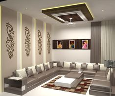 28 What Every Body Is Saying About Modern Living Room Design Ideas Is Dead Wrong And Why 1 - homevignette House Ceiling Design, Ceiling Design Living Room, Bedroom False Ceiling Design, Bedroom Bed Design, Living Room Interior, Home Interior, Home Ceiling, Home Room Design, Living Room Partition Design