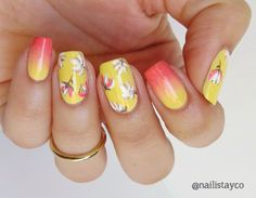 Nail Artists You Should Know – Tropical Flower Nails by Nailista y co - Paulinas Passions