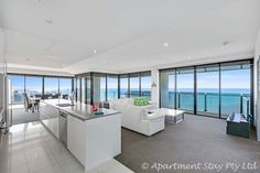 Entire home/apt in Surfers Paradise, AU. BELLE VUE SUB-PENTHOUSE LVL 53 APARTMENT, 270 DEGREE PAANORAMIC VIEWS, RELAXED ELEGANCE, 3 BEDROOM 2.5 BATHROOM OCEAN/RIVER VIEWS WITH ULTRA MODERN FURNISHINGS, LARGE BALCONY AND SPA BATH.  $315 night
