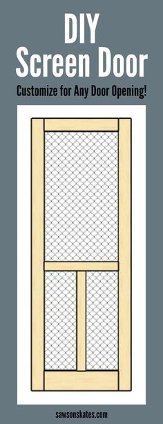 8 Resolute Tricks: Wood Working Furniture The Family Handyman woodworking tricks trim work.Woodworking Business Ana White wood working furniture the family handyman. Learn Woodworking, Easy Woodworking Projects, Popular Woodworking, Woodworking Plans, Intarsia Woodworking, Wood Screen Door, Wooden Screen, Custom Screen Doors, Wood Projects For Beginners