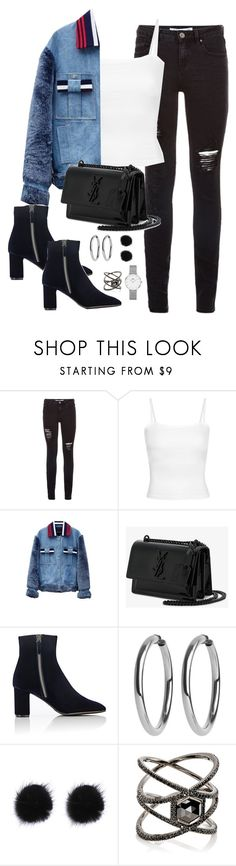 """Untitled #3668"" by theaverageauburn ❤ liked on Polyvore featuring Jamie Wei Huang, Yves Saint Laurent, Barneys New York, Eva Fehren and Daniel Wellington"