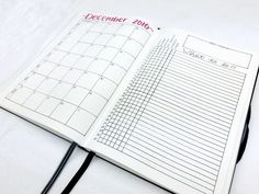 Bullet Journal Layout - December 2016: Spread template downloads, videos, and more at bulleteverything.com