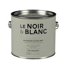 Le Noir & Blanc muurverf extra mat pale jade green 2,5 l - afbeelding 1