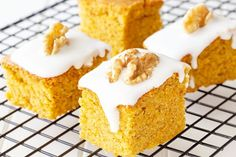 Visit the post for more. Gluten Free Pumpkin Bars, Gluten Free Flour, Gluten Free Cooking, Vanilla Cream, Vanilla Cake, Canned Pumpkin, Confectioners Sugar, Cream Cheese Frosting, Baking Pans