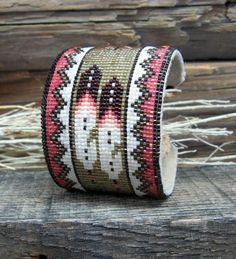 .Southwestern Beaded Cuff Bracelet 1970