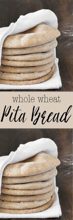 Homemade whole wheat pita bread: serve it with hummus or fill it up with whatever you prefer. Super easy to make, soft, chewy and the flavor just so good!
